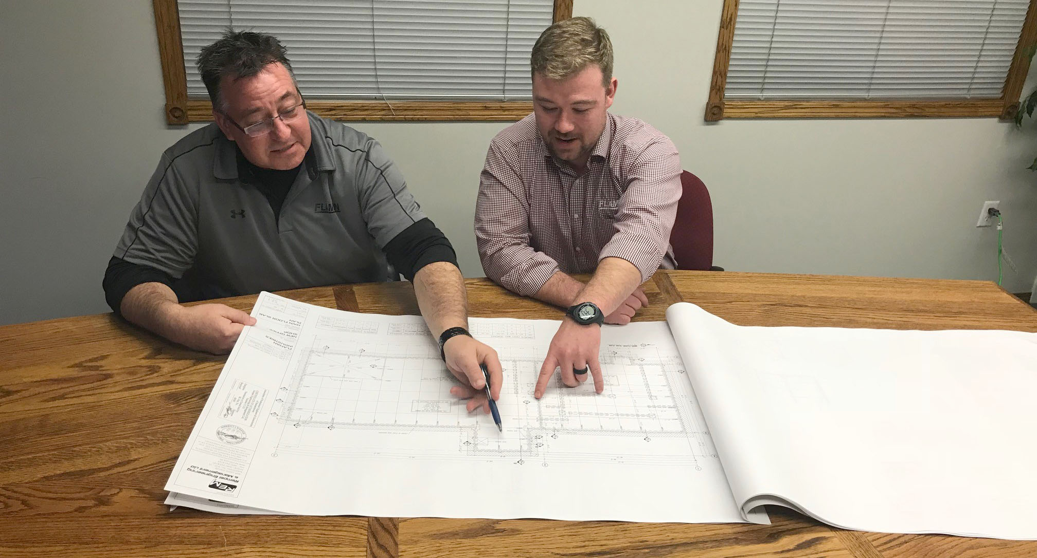 Grain System Specialists drawing up a yard plan