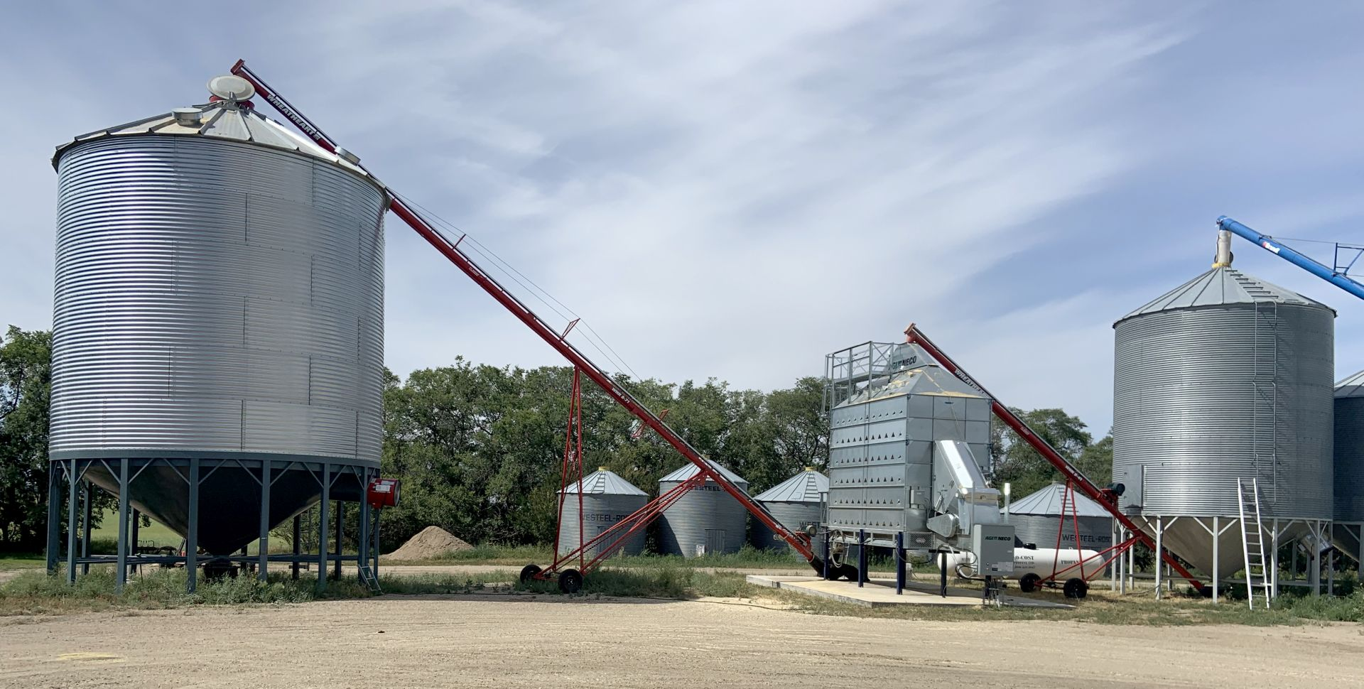 NECO Grain Dryer setup with 2 bins