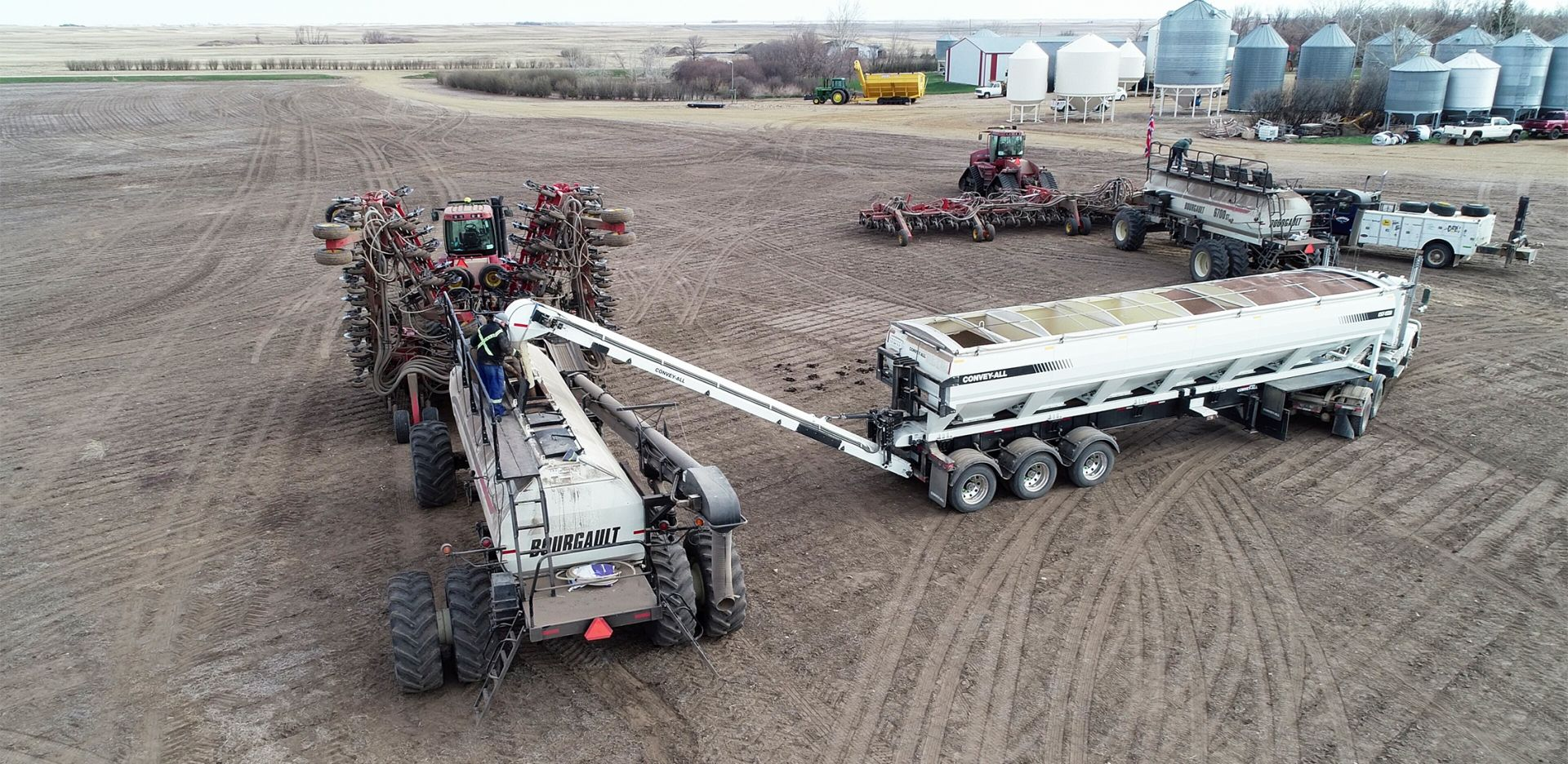 Convey-All Commercial Seed Tender in use