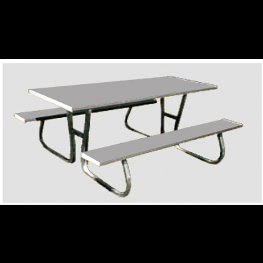 Flaman Parts Sided Picnic Table Summer Recreation - 6 sided picnic table
