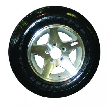 Tire Mounted on Aluminium Rim